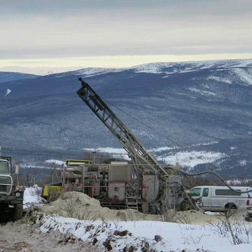 Drill Rig at Livengood during Wintertime