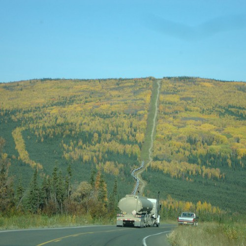 Elliot Highway and Trans-Alaska Pipeline